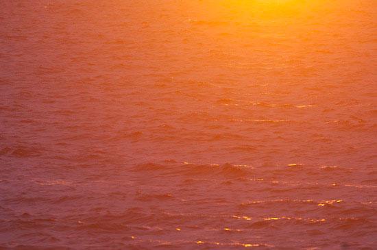 'De as komt hier als stof naar beneden en kleurt de zonsondergang bloedrood. Geen Photoshop, maar wel een heel andere versie van 'Dusty'.'